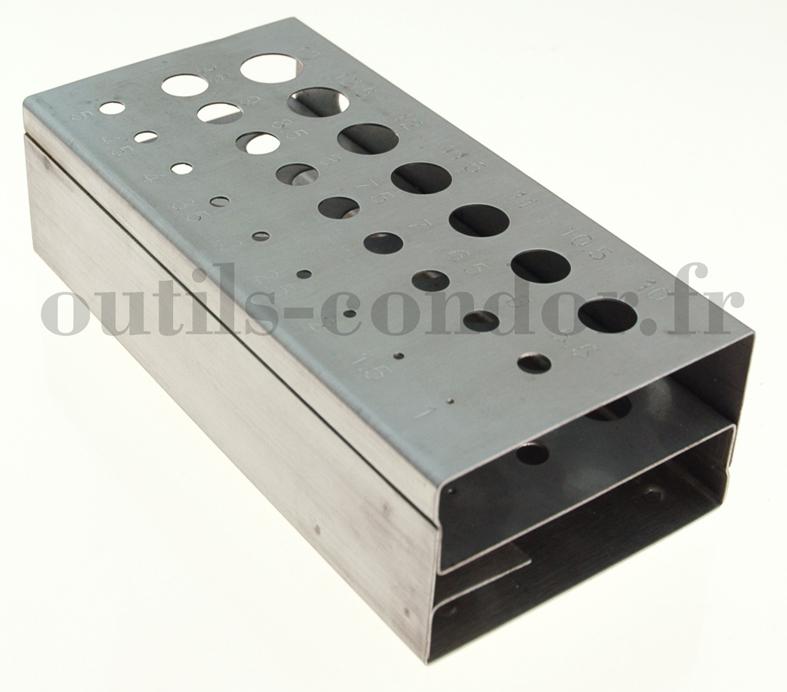 rangement forets pour perceuse pour les tailles 1 13 mm 421 mdh. Black Bedroom Furniture Sets. Home Design Ideas
