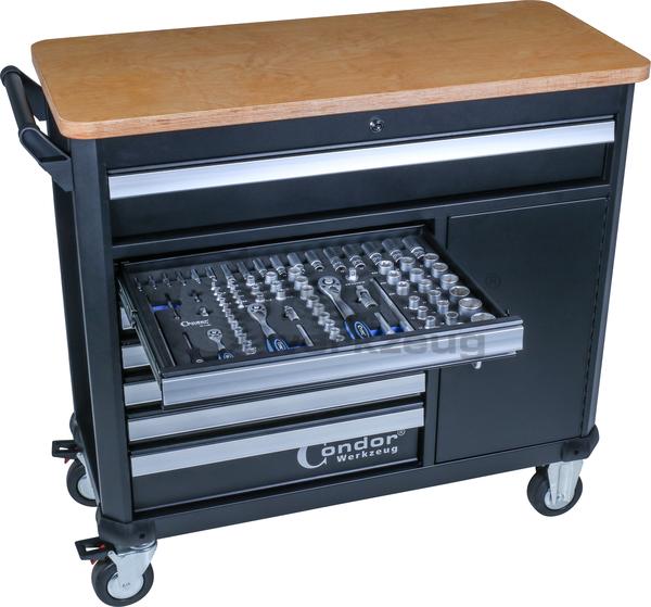 servante d 39 atelier xl 7 tiroirs 1 compartiment de rangement sans outils. Black Bedroom Furniture Sets. Home Design Ideas