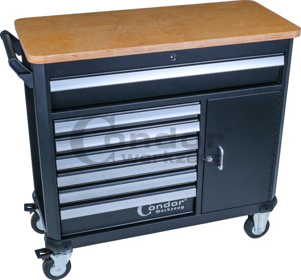 servante d 39 atelier xl 7 tiroirs 1 compartiment de. Black Bedroom Furniture Sets. Home Design Ideas